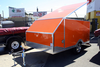 3 bike enclosed motorcycle trailer